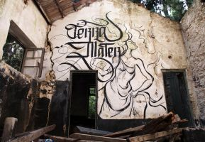Terra Mater Calligraphy by sectiongraphix