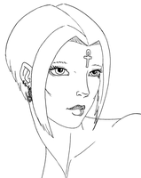 Xecy Portrait Lineart by WargmoDesign