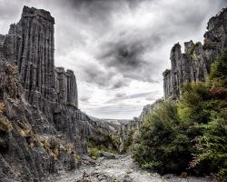 Putangirua Pinnacles by wolfblueeyes