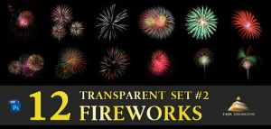 12 Transparent Fireworks Set 2 by HJR-Designs