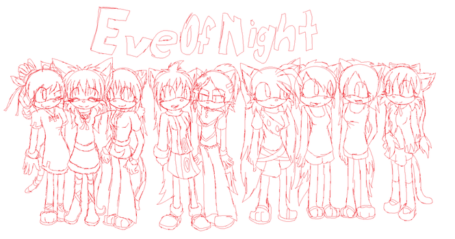 EveOfNight group sketch by Anceldaria