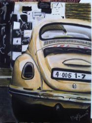 beetle painting by majood