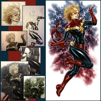 Captain Marvel colors and steps by diablo2003