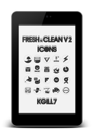 FreshNClean V2 Icons. by kgill77