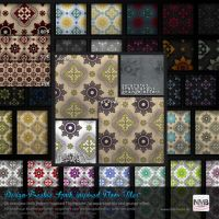 98 PS CS+ Iznik inspired Floor Tile Pattern by Hexe78