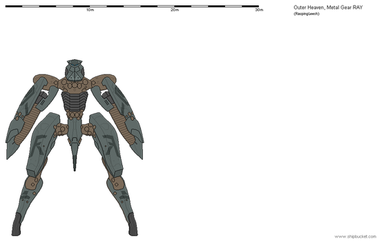 Metal Gear RAY (Outer Heaven) by Vexiphile