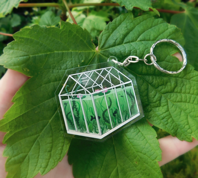 Little Greenhouse Keyrings by CosmosKitty