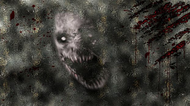 Bloody Scratches with horror creature by Th3R3dV1p3r