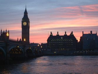 Big Ben at Sunset by flossiebot