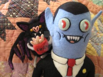 My Needle Felted Hunson Abadeer and Batceline by CatsFeltLings