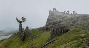 The Dragon's Tor.. by AledJonesStockNArt