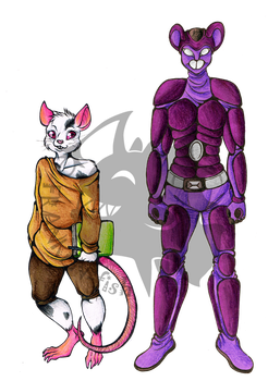 ((Commission)) Kelly Pecknold and Ratchethewi by Franken-Fish
