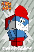 Papa Smurf template by ADRIAN-NATION
