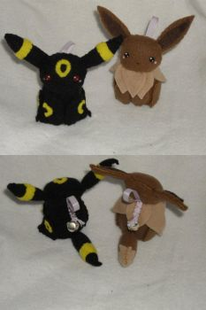 Umbreon and Eevee Bell Plushies by Sexual-Pancake