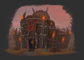Orgrimmar Main Hall by blacksmiley