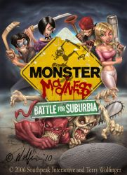Monster Madness Cover by WolfieArtGuy