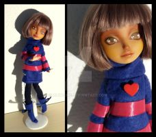[EAH repaint] Frisk, the human from Undertale by Alyaline