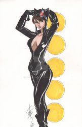 Catwoman Oct 2011 by Hodges-Art