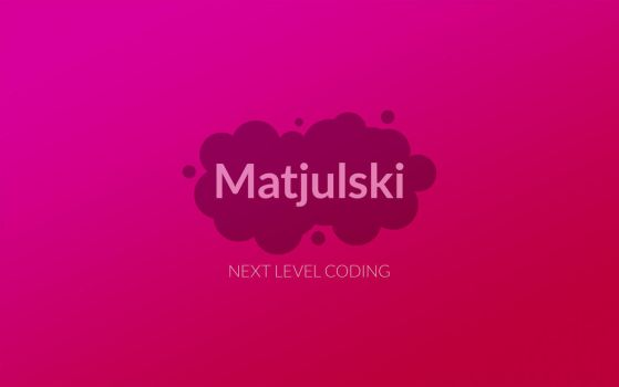 Matjulski Logo 2016 Wallpaper by Matjulski