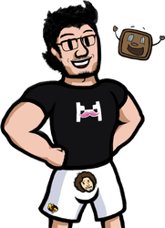 Markiplier and Tiny Box Tim! by Thelimomon