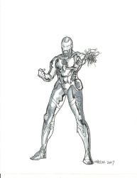 Iron Man Quick Sketch by gandalf0987