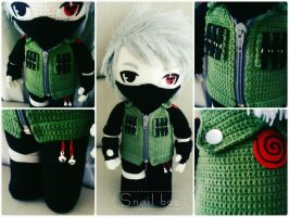 Kakashi crochet doll by abaoabao