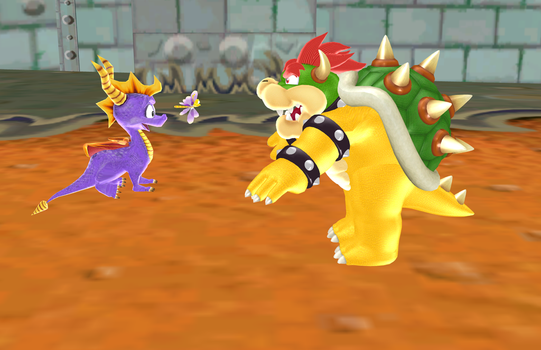 Spyro vs Bowser by SuperSmashCynderLum