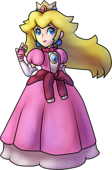 Princess Peach (Princess Daisy Scribble Scramble) by MisterYoshiandwatch