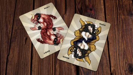 Heroes of Japan Playing Cards - Jokers by kardeck-playingcards