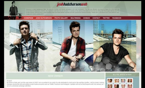 Josh Hutcherson Wordpress Theme by BurningBrightDesigns