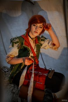 The Witcher 3 Shani cosplay (frame 23) by Lyumos