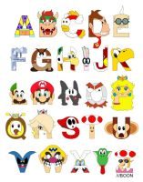 Super Mario Alphabet by mbaboon