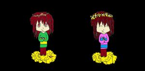 Frisk And Chara Mouse by zencat61