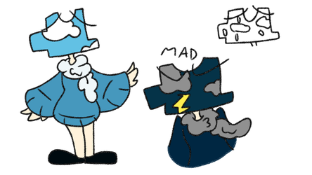 Cloud Puzzle Object Head Adopt CLOSED by StarBURSTEDArt