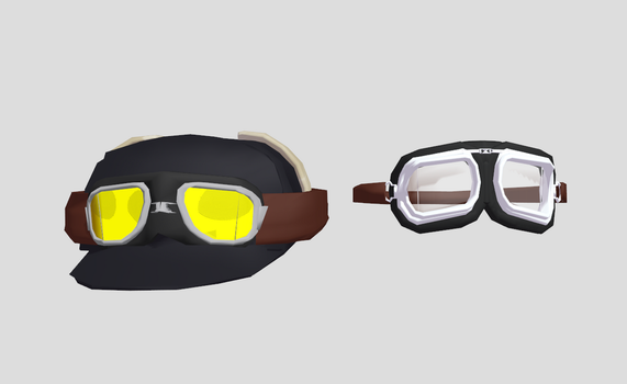 mmd Goggles and Goggle hat DL by amiamy111