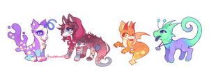 (AT/C) Sweet Characters by scarletscreations