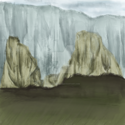 Landscape mountain study by constancelea