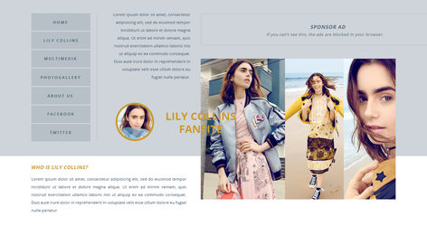 Lily Collins PSD Header | FREE by BrielleFantasy