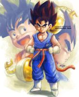 Kid Vegetto by Mark-Clark-II
