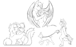 Commission Sketches by Zeven-Dust