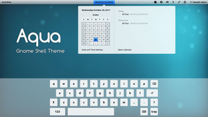 Gnome Shell - Aqua by satya164