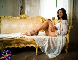 Rebeca Regal in White by RocketQueenImaging
