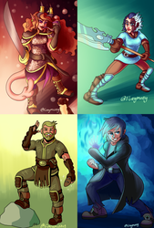 Four Heroes by funymony