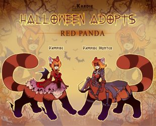 Red Panda. Halloween ADOPTS! by Kardie