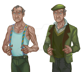Character for the game granddad by ymymy