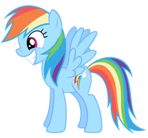 Rainbow Dash Vector - Smile Inc. by Anxet