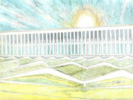 Syncretic Divine Landscape Architectural Trial by TheGreatMC