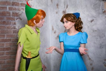 Peter Pan and Wendy Darling by Rinoa-Ulti