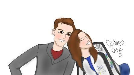 MatPat and Steph  by SilverArrowz