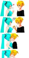 Len doesn't need pocky by AbbyTropis